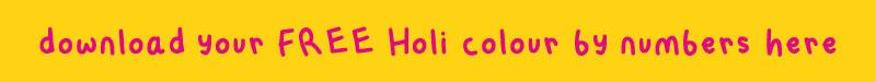 holi colouring printable button 02