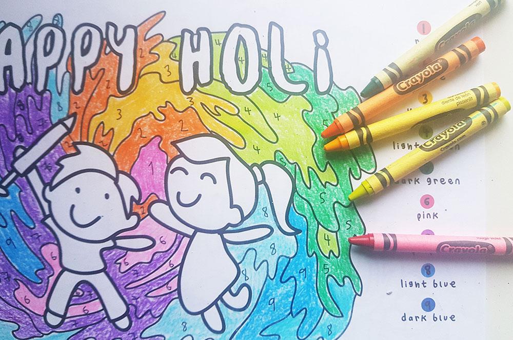 holi colouring 02