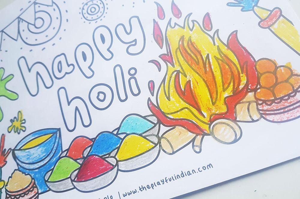 holi colouring 01