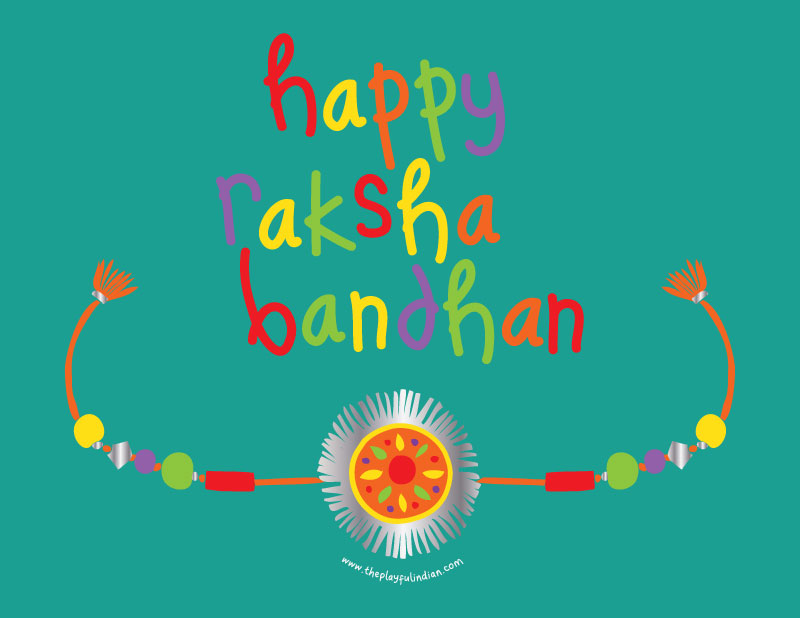 image about Rakhi Cards Printable known as What Is Raksha Bandhan + Cost-free Printable - The Playful Indian