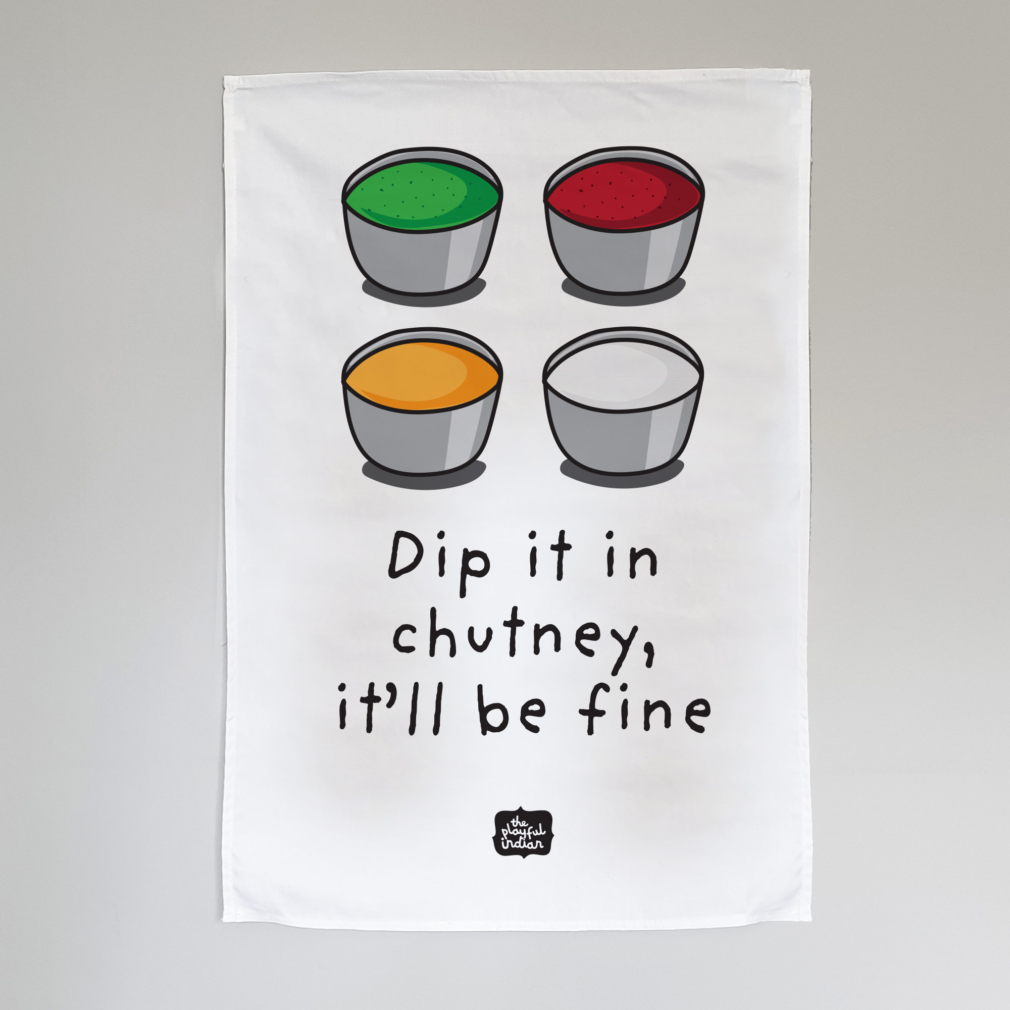 dip it in chutney tea towel