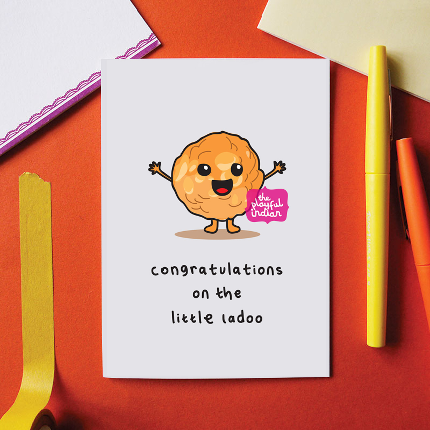 congratulations on the little ladoo baby card