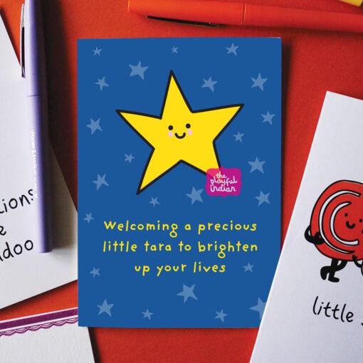 little tara, baby card