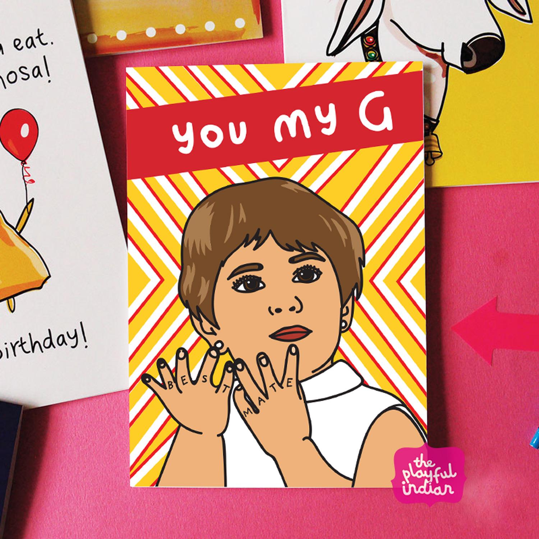 you my g birthday card