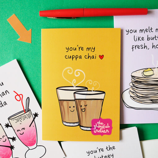 indian cards - my cuppa chai