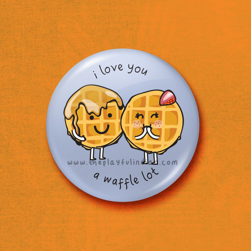 i love you a waffle lot accessory