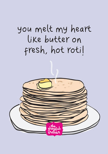 roti indian greeting card
