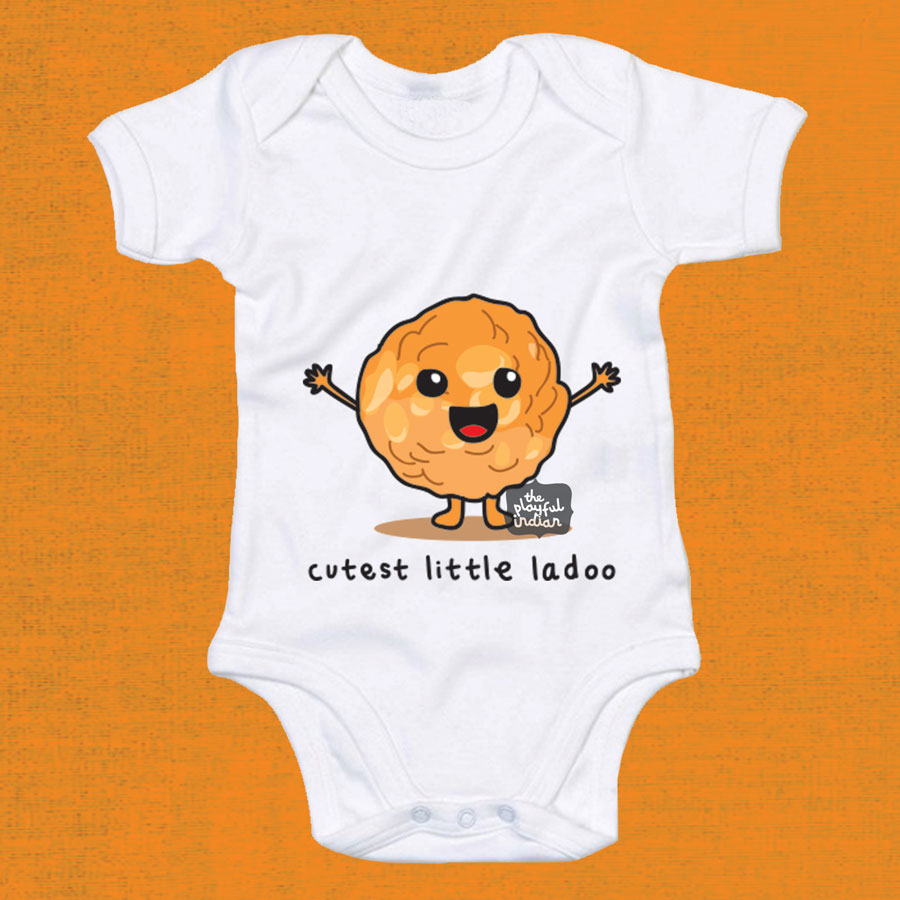 0f89fb702 Cutest Little Ladoo Babygrow - The Playful Indian