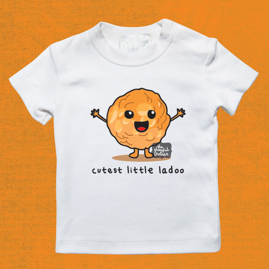 b27896271 Cutest Little Ladoo Baby/Kids T-Shirt - The Playful Indian