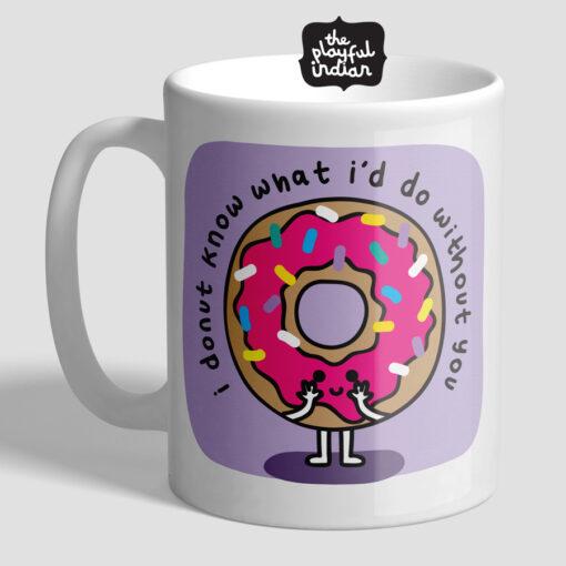 I Donut Know Mug