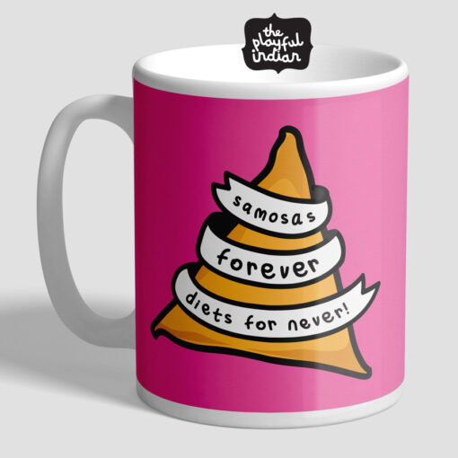 samosas forever mug