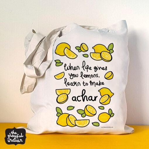 lemon achar tote