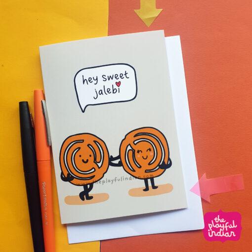 jalebi indian greeting card