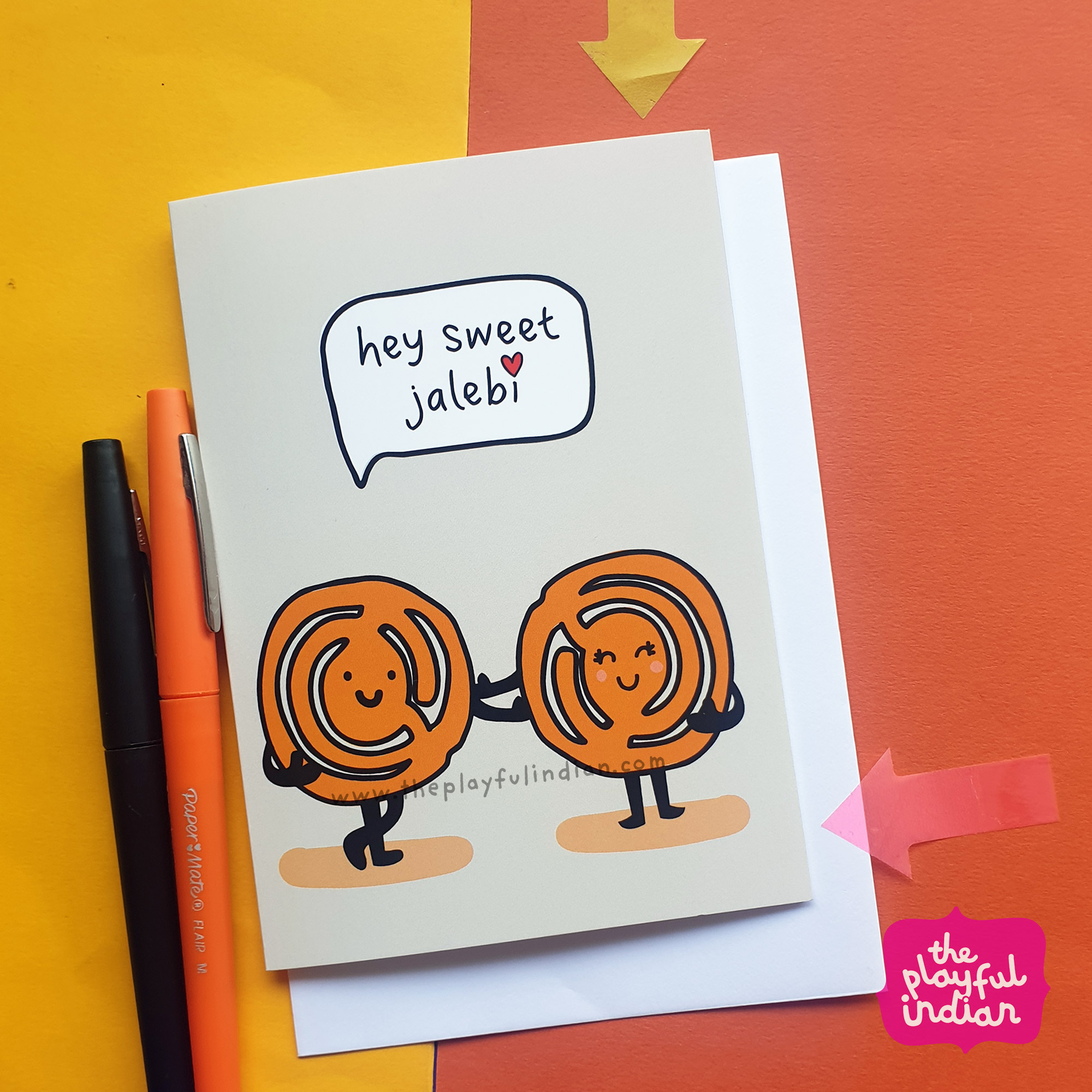 jalebi indian greeting card