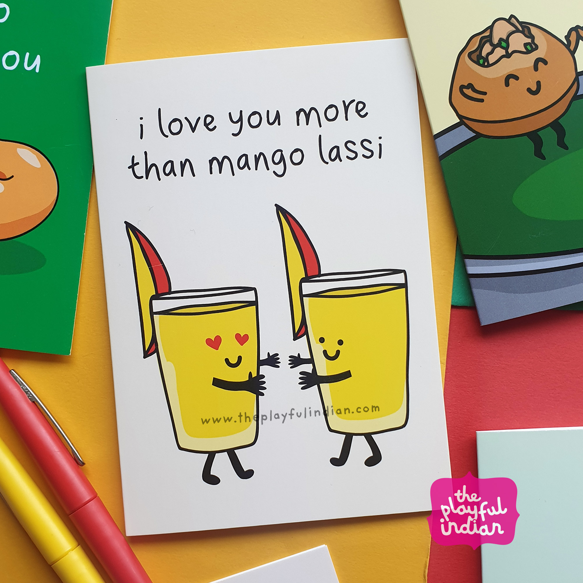 mango lassi greeting card