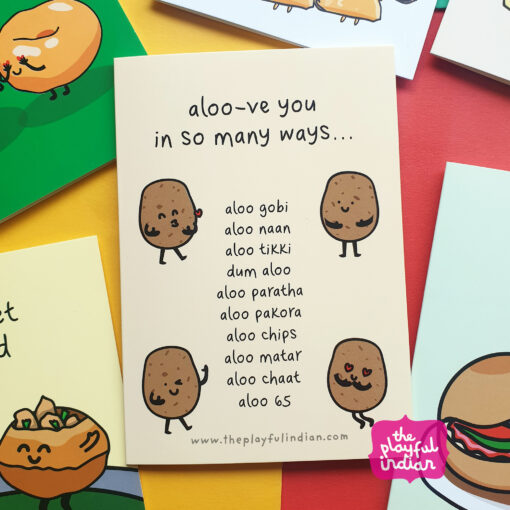 aloove you indian greeting card