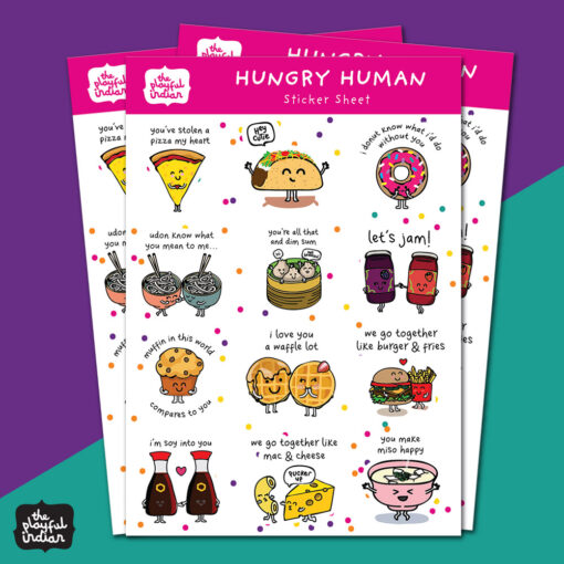 hungry human stickers
