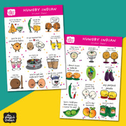 hungry indian sticker sheet