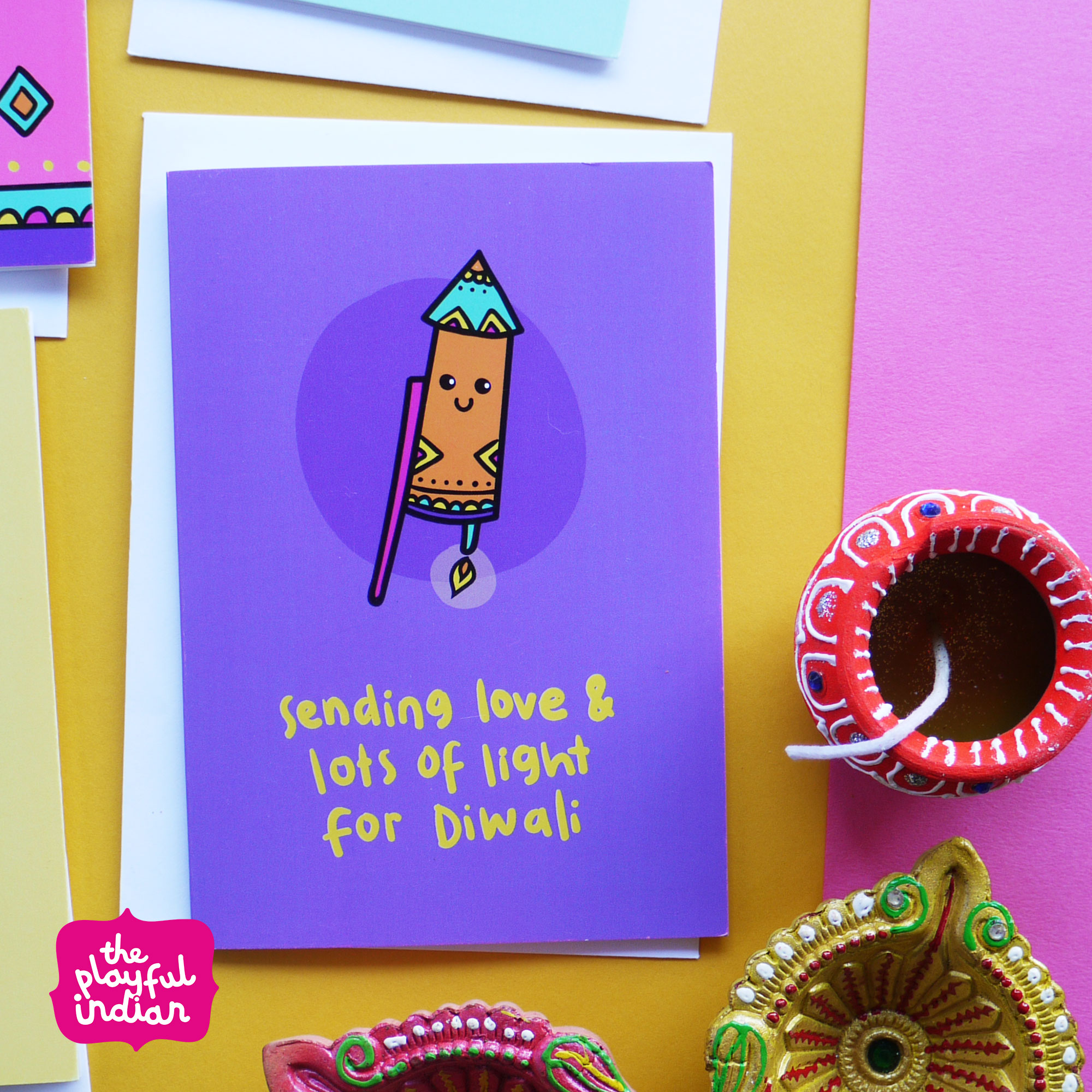love  lots of light diwali greeting card  the playful