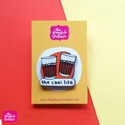 chai life wooden pin