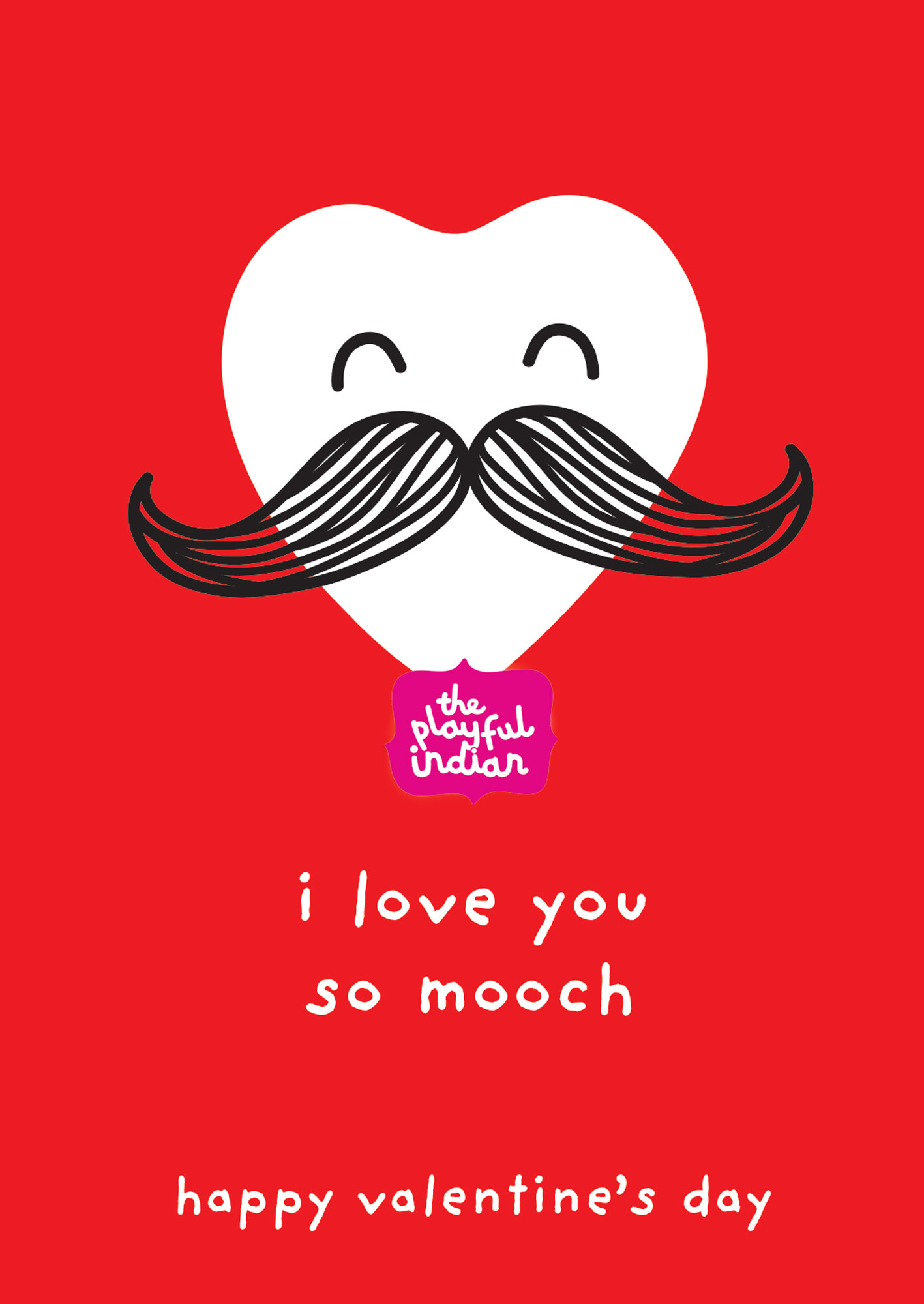 i love you so mooch valentines greeting card