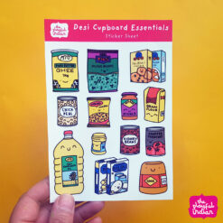 Desi Cupboard Essentials Sticker Sheet