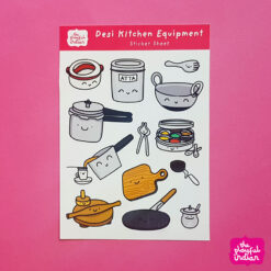 Desi Kitchen Equipment Sticker Sheet
