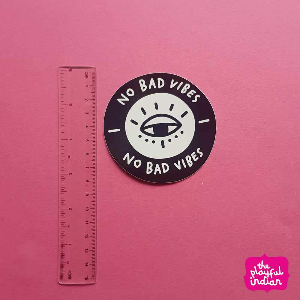 No Bad Vibes Vinyl Sticker