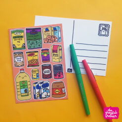 Desi Cupboard Essentials Postcard