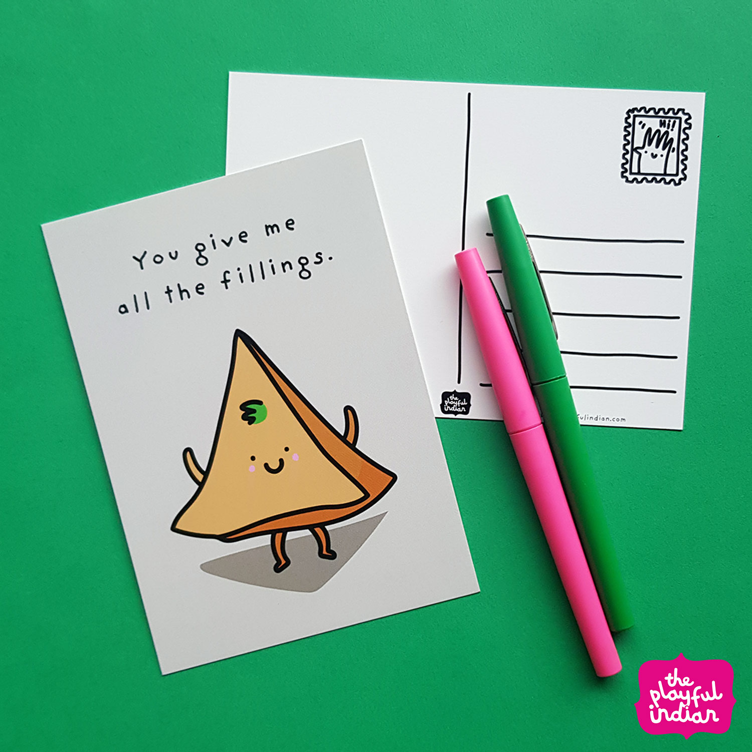 You Give Me All The Fillings Postcard