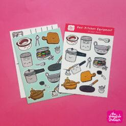 Desi Kitchen Equipment Postcard and stickers
