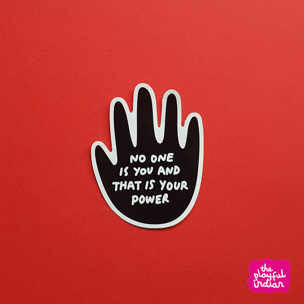 No One Is You Vinyl Sticker