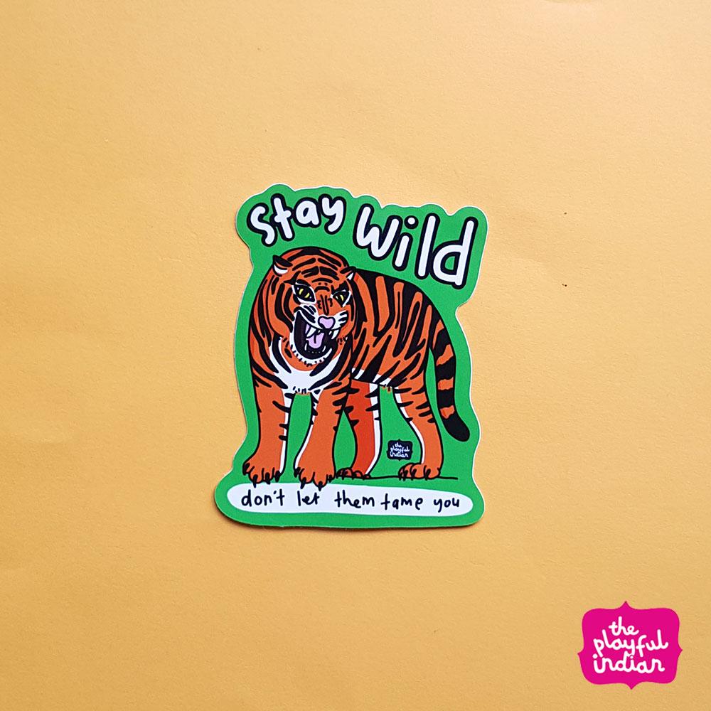 Stay Wild Vinyl Sticker