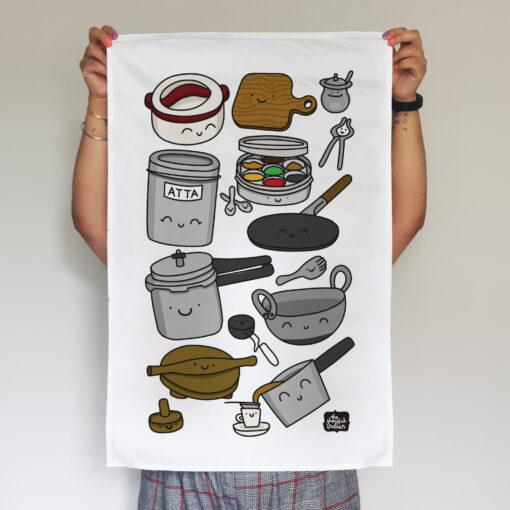 desi kitchen equipment tea towel