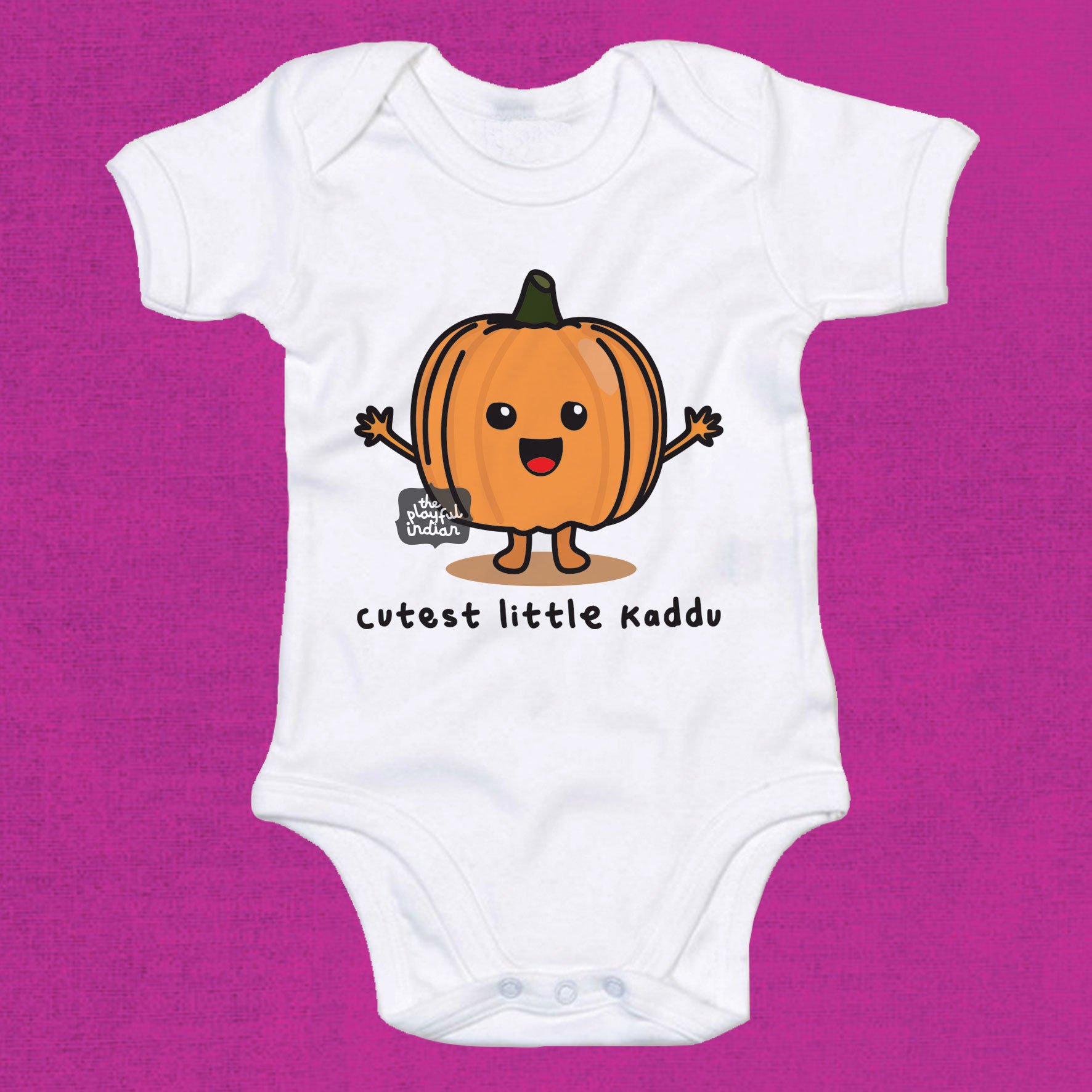 cutest little kaddu babygrow