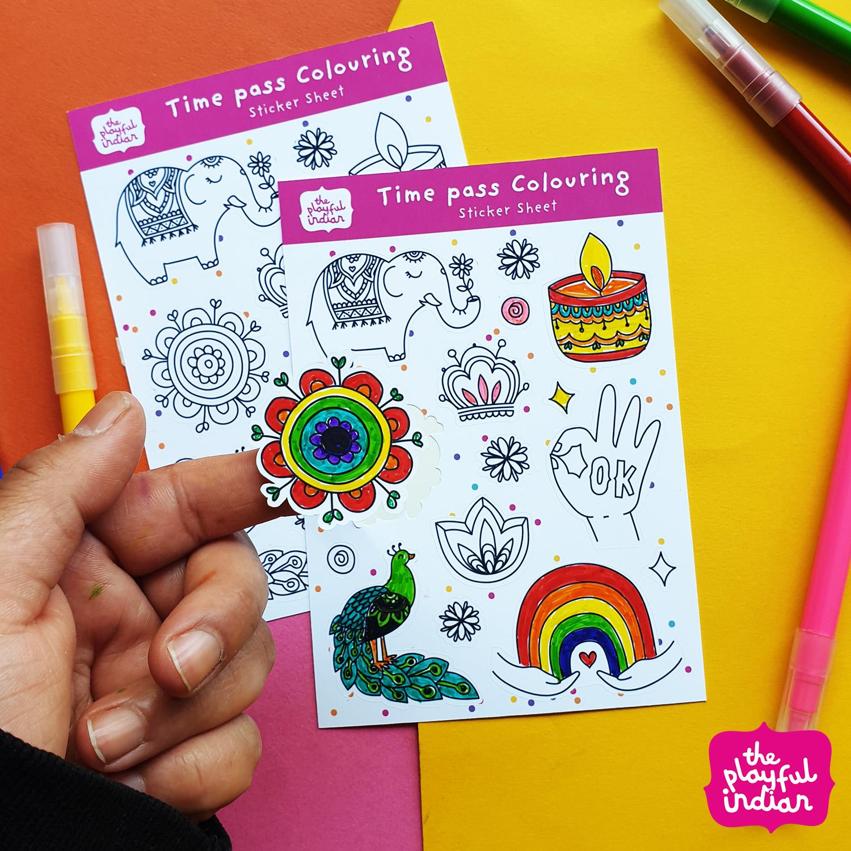 colour in sticker sheet