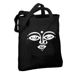 surya design black tote bag