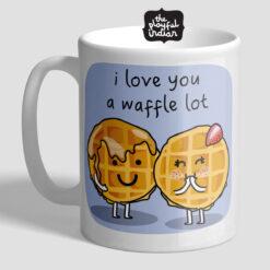 a waffle lot mug