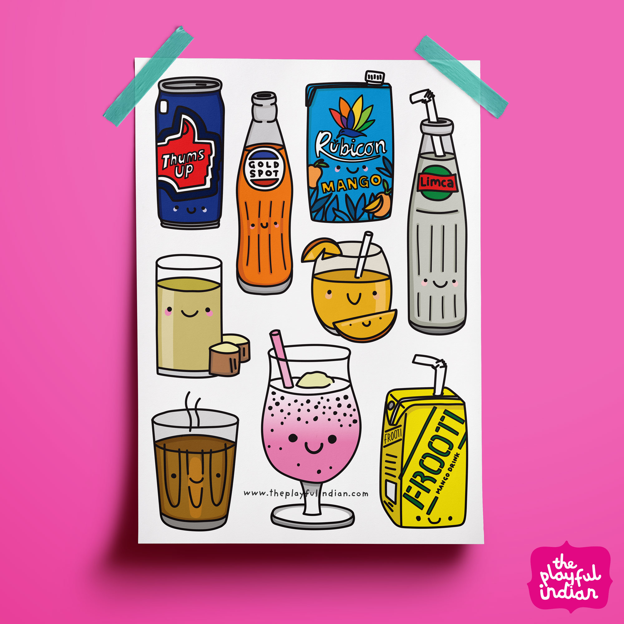 Popular Desi Snacks Print