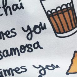 chai and samosa tea towel