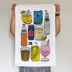desi drinks tea towel