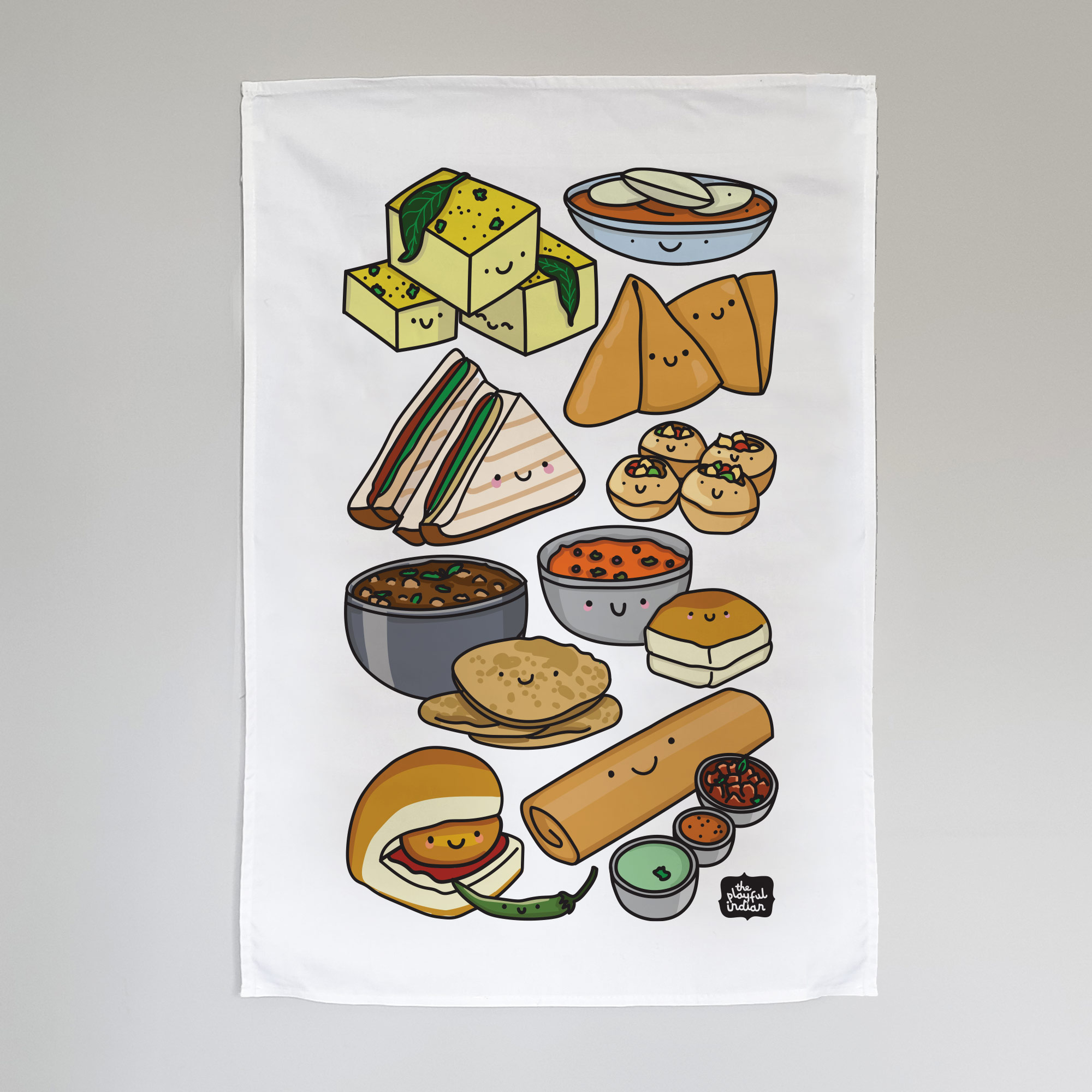desi snacks tea towel
