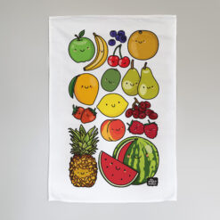 Happy Fruits tea towel