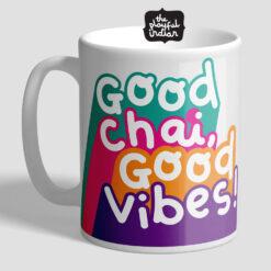 good chai good vibes mug