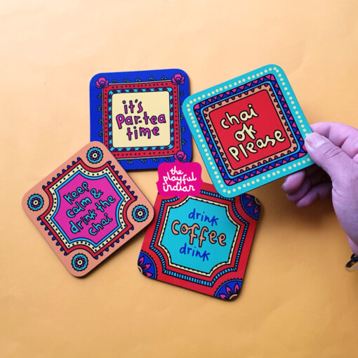 indian truck art coasters