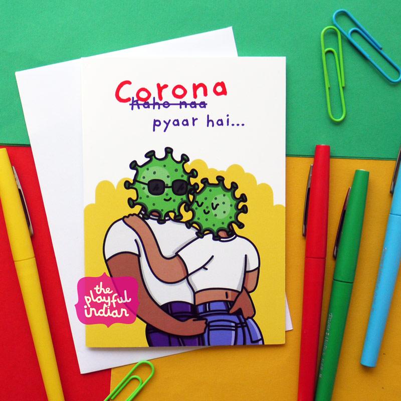 corona desi indian greeting card