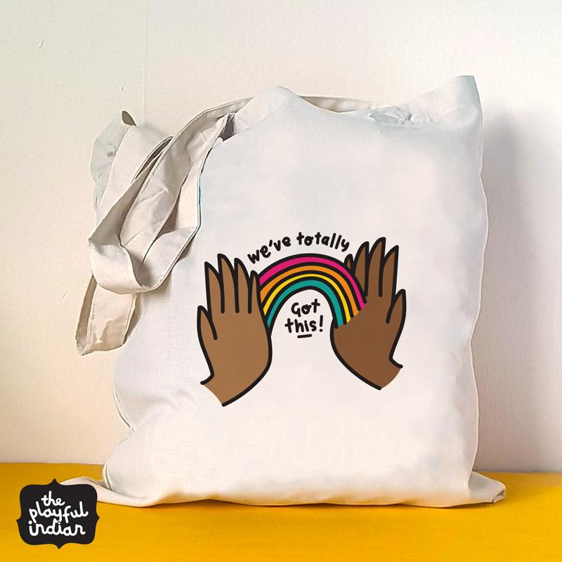 we got this tote bag