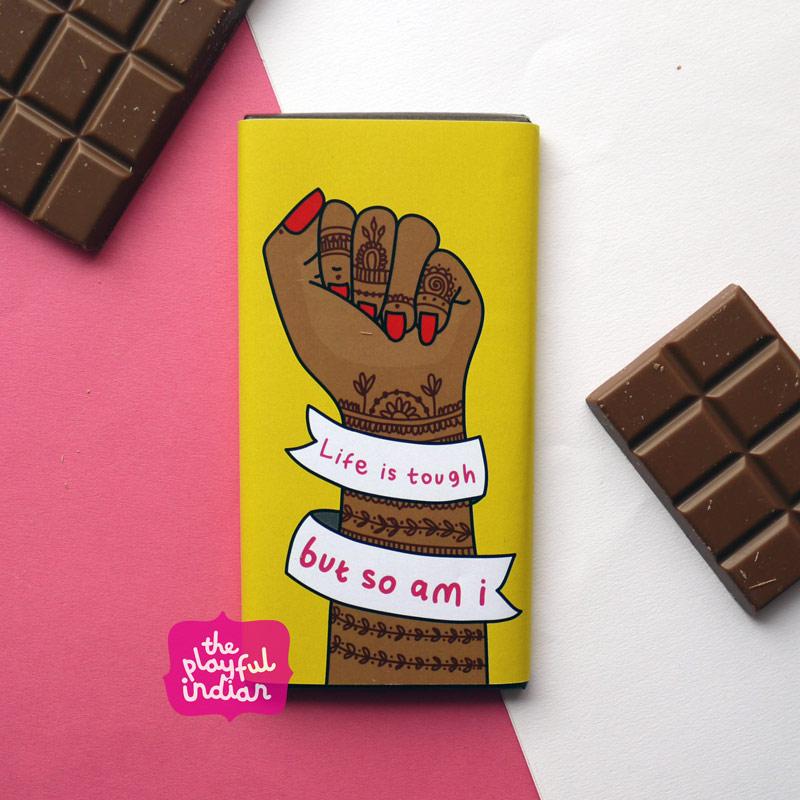 Life is tough chocolate