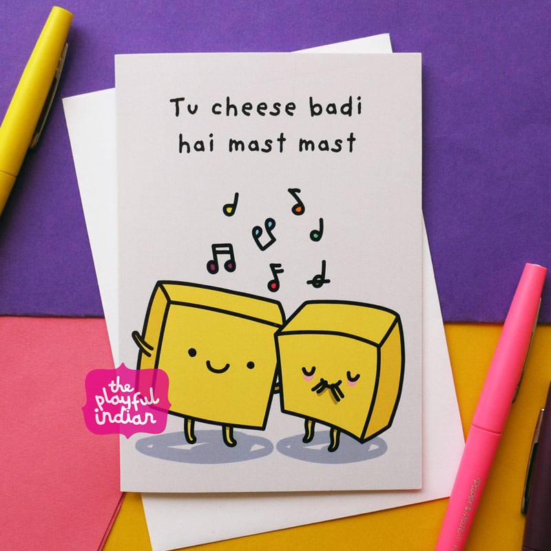 th cheese badi hai indian greeting card