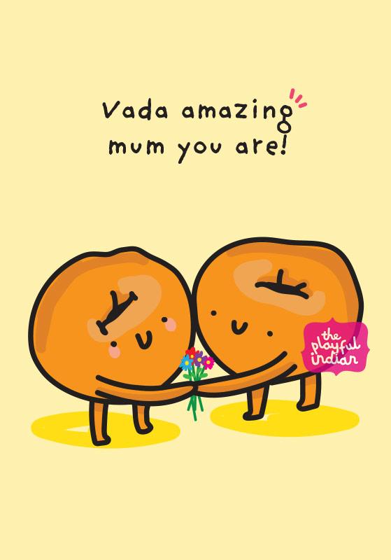vada amazing mum card